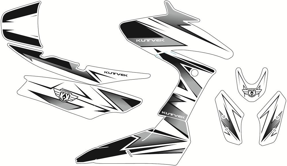 クヴェック ステッカー・デカール KUTVEK ベロシティ グラフィックキット YAMAHA X-MAX400【Kutvek graphic kit Velocity Yamaha X-Max 400】【ヨーロッパ直輸入品】