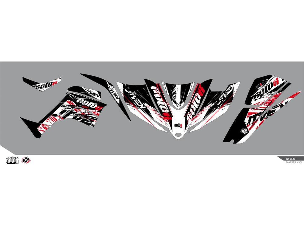 クヴェック ステッカー・デカール KUTVEK ローター グラフィックキット ブラック KYMCO 450 MAXXER【KUTVEK Rotor black graphic kit Kymco 450 Maxxer】【ヨーロッパ直輸入品】