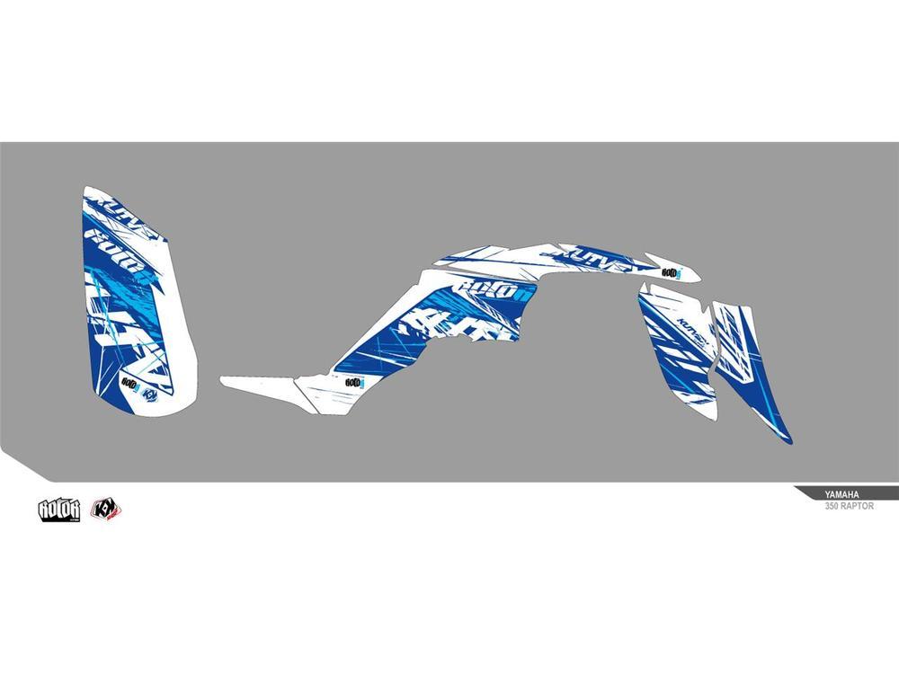 クヴェック ステッカー・デカール KUTVEK ローター グラフィックキット ブルー YAMAHA RAPTOR 350【KUTVEK Rotor blue graphic kit Yamaha Raptor 350】【ヨーロッパ直輸入品】