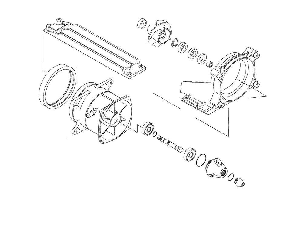 ダブリューエスエム その他エンジンパーツ WSM タービンハウジング補修キット KAWASAKI 1200 STX-R【turbine repair kit WSM Kawasaki 1200 STX-R】【ヨーロッパ直輸入品】