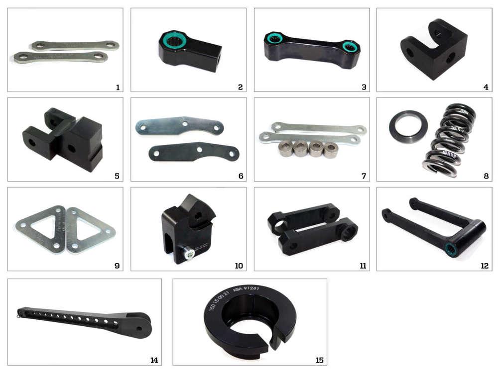 車高調整関係 TECHNIUM ローダウンキット 7タイプ HYOSUNG GT650 CORNET FI/N用(Tecnium Lowering Kit 7-Type Hyosung GT650 Comet FI / N【ヨーロッパ直輸入品】)
