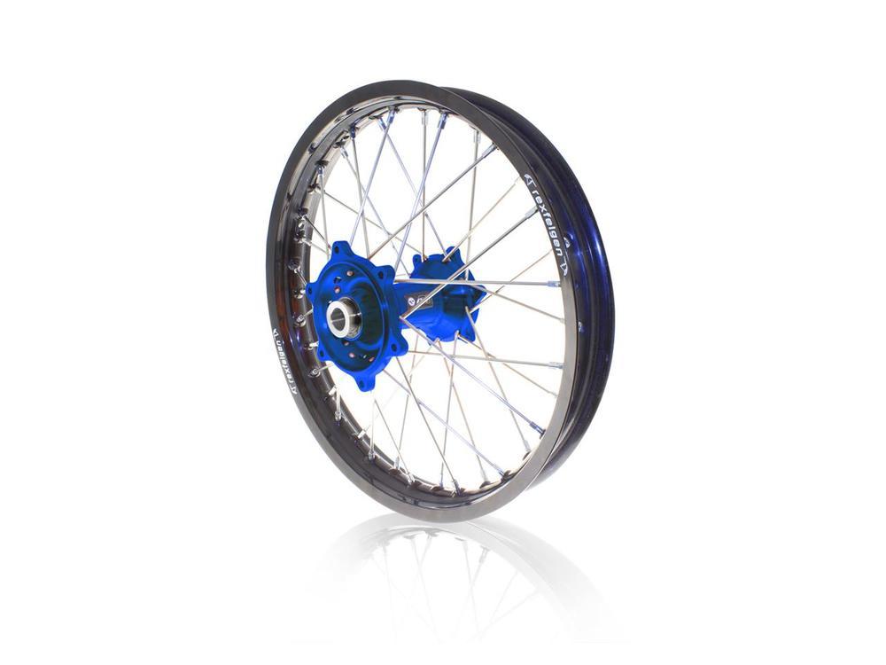 リア コンプリートホイールリム/ハブ 18x2.15 ブラック/ブルー HUSQVARNA FE/TE用 (ART Complete rear wheel rim 18x2.15 black / blue hub Husqvarna FE / TE【ヨーロッパ直輸入品】)
