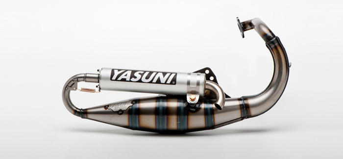 YASUNI R アルミ エキゾーストシステム PEUGEOT/SPEEFIGHT/BUXY/TKR【YASUNI R exhaust alu silencer Peugeot Speedfight / Buxy / TKR】【ヨーロッパ直輸入品】