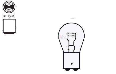 灯火類 V PARTS Vパーツ 14661  Vパーツ 各種バルブ バルブ (10個セット) S25 12V-21/5W(Box of 10 bulbs V PARTS S25 12V-21 / 5W【ヨーロッパ直輸入品】)