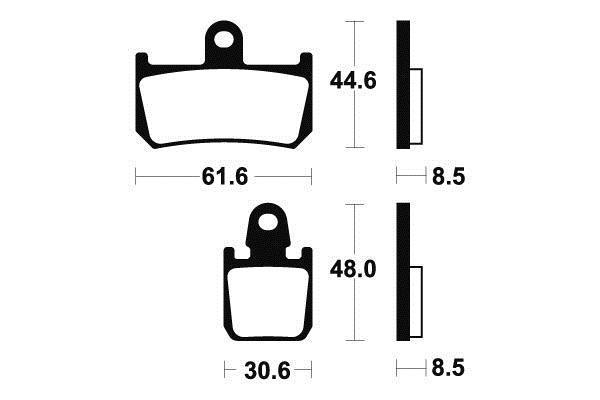 TECNIUM テクニウム ブレーキパッド シンターメタルカーボン【BRAKE PADS SINTERED METAL CARBONE】【ヨーロッパ直輸入品】 MT-01 (1700) YZF-R1 (1000)