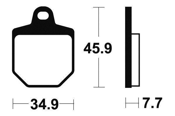 TECNIUM テクニウム ブレーキパッド シンターメタル 【BRAKE PADS SINTERED METAL 】【ヨーロッパ直輸入品】 SMR560 (560) 07-08 SMR450 (450) 07-08