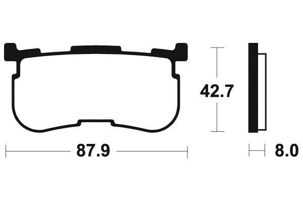 TECNIUM テクニウム ブレーキパッド シンターメタル 【BRAKE PADS SINTERED METAL 】【ヨーロッパ直輸入品】 TRI GLIDE ULTRA (1690) 14