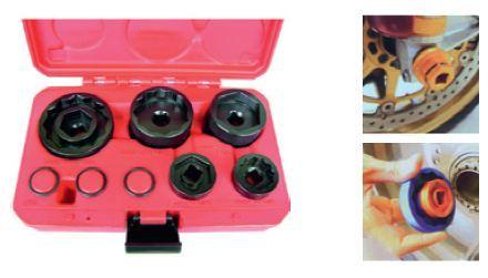 ジェイエムピー その他、ソケット JMP ニューマチック ブレーキブリーダーデュアルーアウトプット【JMP Specific Set of 5 sockets for Wheel Axles Nuts】【ヨーロッパ直輸入品】