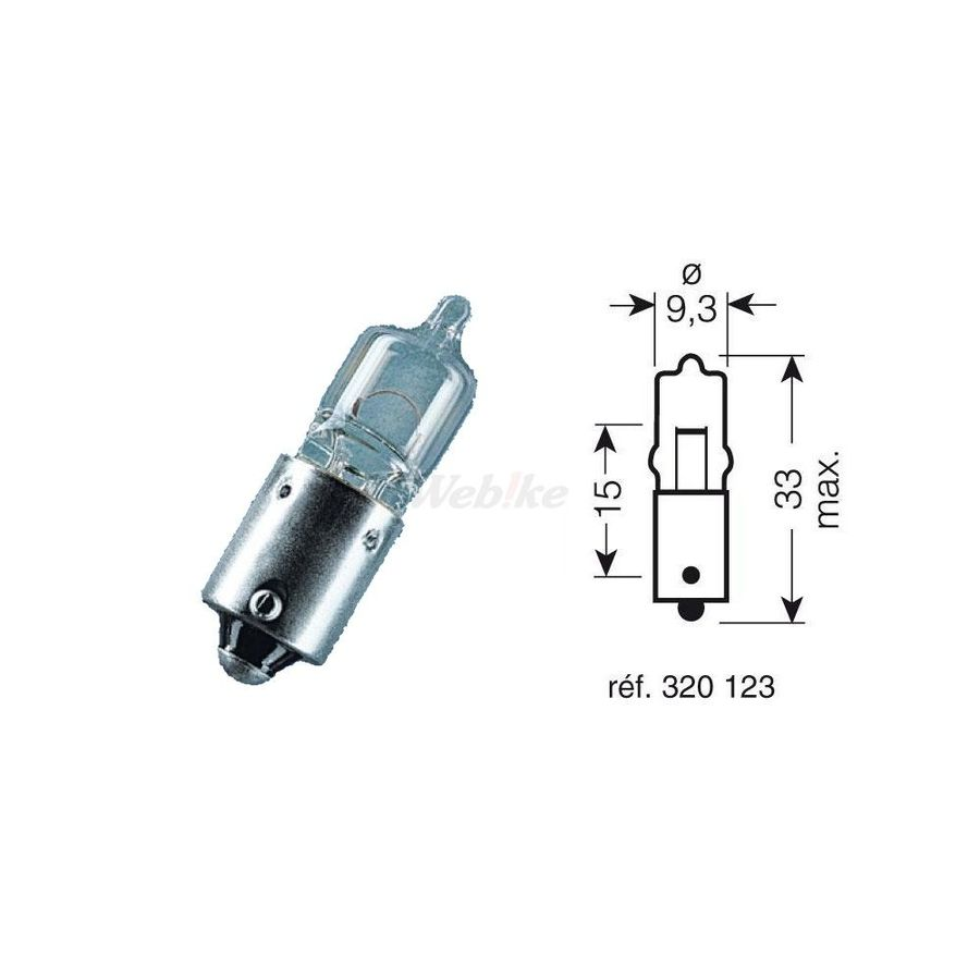 OSRAM オスラム OSRAM バルブ (10個セット) 12V-20 WITNESS CULOT BA9S【OSRAM BOX 10 BULBS 12V-20W / WITNESS CULOT BA9S】【ヨーロッパ直輸入品】