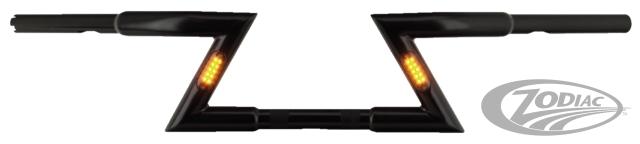 ゾディアック ハンドルバー ZODIAC BEEFY Z-BARS WITH BUILT-IN LED LIGHTS COLOR:GLOSS BLACK selected CVO selected SE Softail Touring
