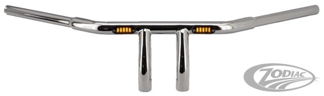 ゾディアック ハンドルバー ZODIAC BEEFY T-BARS WITH BUILT-IN LED LIGHTS COLOR:MATTE BLACK