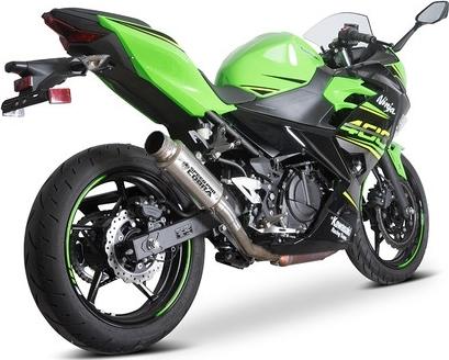 スリップオンマフラー X7 Slip-on road legal/homologated Kawasaki Ninja 400/Ninja 250/Z400 スリップオン スリーブ長(サイレンサー長):300mm デカール(ロゴ):レーザーロゴ