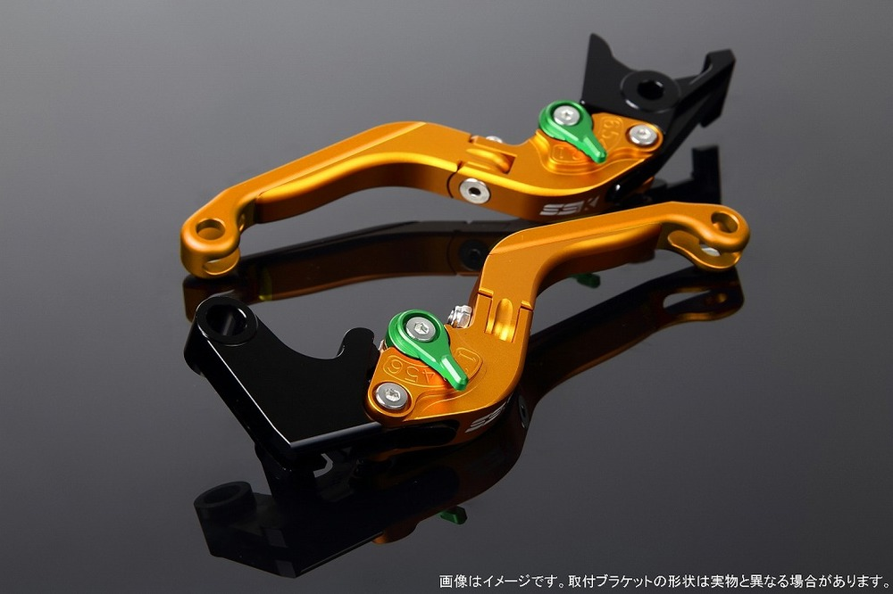 SSK:スピードラ エスエスケー:スピードラ アルミビレットアジャストレバーセット 可倒延長式 NS-1 Monkey125 GROM MSX125 CBR250R CB250F CB250R CBR400R 400X CB400F