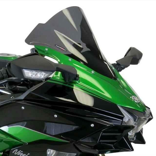 ODAX オダックス POWER BRONZE スポーツ・エアフロースクリーン カラー:イリジウムシルバー Ninja H2 SX