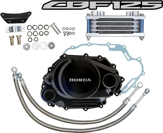 ATop エートップ オイルクーラー本体 オイルクーラーキット カラー:ブラック CBF125