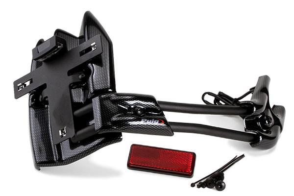 【送料無料】外装 TMAX530 Puig プーチ 6374C  Puig プーチ ナンバープレート関連 ライセンスサポート フェンダータイプ カラー:カーボンプリント TMAX530
