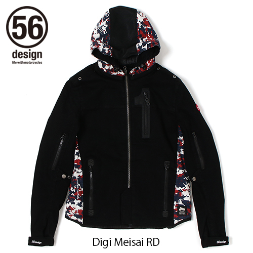 56design 56デザイン ライディングジャケット S-Line Cotton Parka DJ[S-ライン コットンパーカー DJ] サイズ:XL