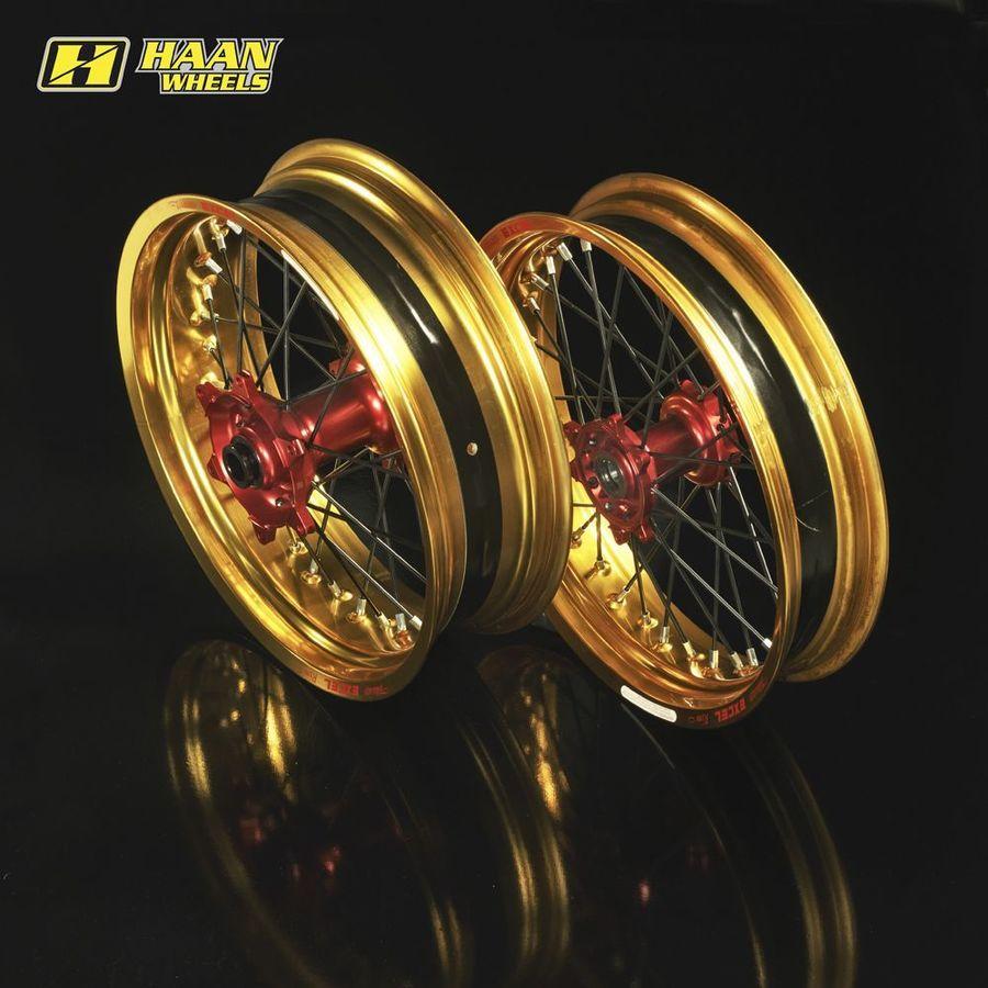 【一部予約販売】 HAAN DRZ 400 WHEELS ハーンホイール フロント・リアモタードコンプリートホイール 2000-2012 F3.50-R4.25/17インチ DRZ 400 SM 2000-2012, ヤスシ:f813e51f --- medsdots.com