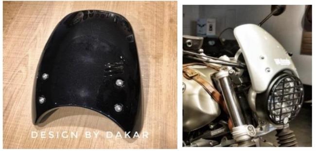 DK design ディーケーデザイン ビキニカウル・バイザー フロントカウル カラー:ブラック RnineT