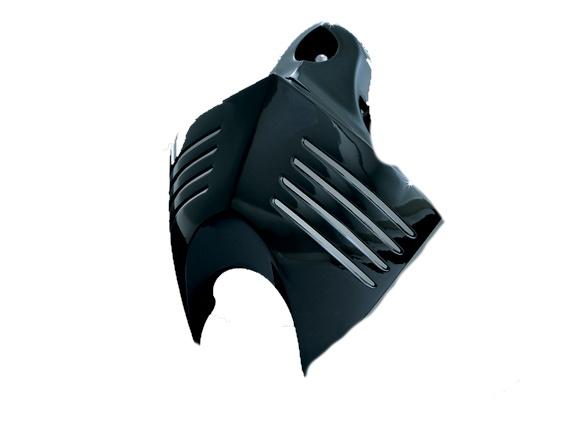 Kuryakyn クリアキン ビッグツイン用 V-Shield ホーンカバー(艶ありブラック) BigTwins [ビッグツイン] キャブ/インジェクション 92-12 純正ホーンがシリンダーの間に配置されているモデル