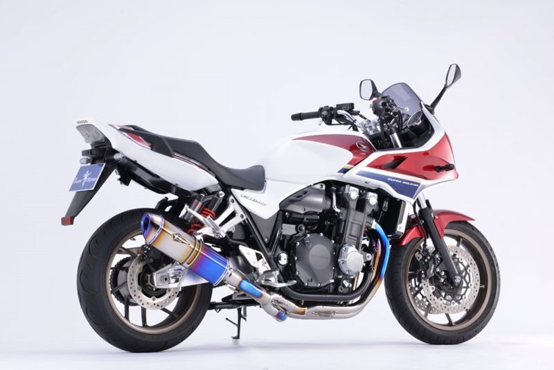 r's gear アールズギア フルエキゾーストマフラー ワイバンリアルスペック シングルタイプマフラー サイレンサータイプ:チタンドラッグブルー CB1300スーパーフォア CB1300スーパーボルドール