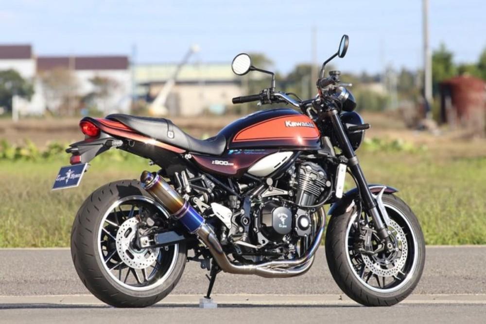 【在庫あり】r's gear アールズギア ワイバンクラシックR シングルUPタイプマフラー Z900RS CAFE Z900RS