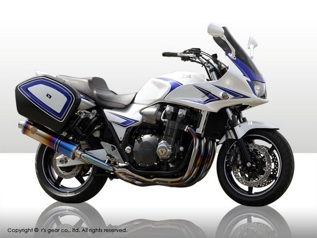 r's gear アールズギア フルエキゾーストマフラー ワイバン シングルタイプマフラー タイプ:真円/カーボン CB1300スーパーツーリング