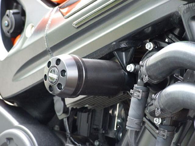 P&A International パイツマイヤーカンパニー ガード・スライダー 衝撃吸収ダンパー内蔵クラッシュパッド X-Pad ロング(100mm) カラー:ブラック F800R