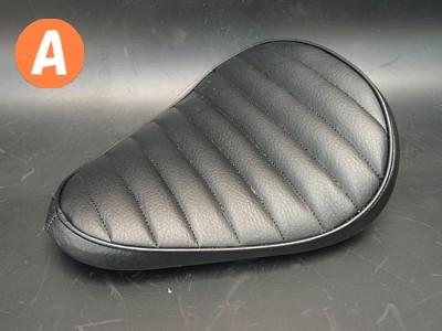部品屋K&W シート本体 フラットフェンダー対応ソロシートキット スプリングタイプ (ステッチ) カラー:白 ステッチ:A マグナ50
