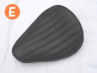 部品屋K&W シート本体 フラットフェンダー対応ソロシートキット スプリングタイプ (ステッチ) カラー:白 ステッチ:E マグナ50