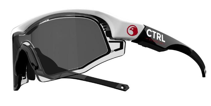 e-tint イーティント 電子式調光スマートサングラス コントロールワン(CTRL ONE) フレームカラー:ブラック/ホワイト