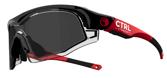 e-tint イーティント 電子式調光スマートサングラス コントロールワン(CTRL ONE) フレームカラー:レッド/ブラック