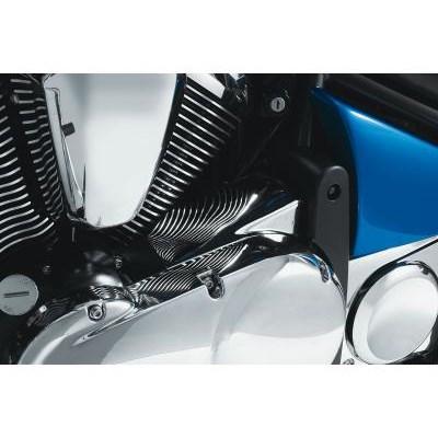 US KAWASAKI 北米カワサキ純正アクセサリー エンジンカバー インサイドプーリーカバー クローム  (Inside Pulley Cover - Chrome)