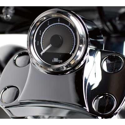 US KAWASAKI 北米カワサキ純正アクセサリー ミニ タコメータ ビレットクローム (Tachometer,Chrome)