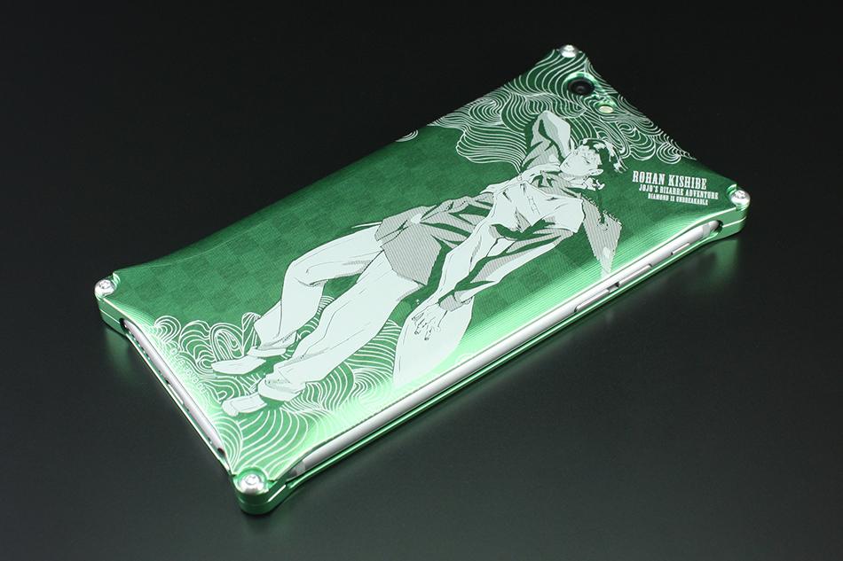 GILD design ギルドデザイン スマートフォンケース 『ジョジョの奇妙な冒険 ダイヤモンドは砕けない』 iPhone6/6sケース タイプ:岸辺露伴 (ライトグリーン)