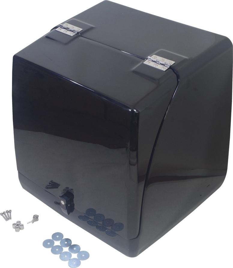 Hunter ハンター トップケース・テールボックス シンプル リアボックス カラー:黒ゲル仕様 ジャイロキャノピー TA02 TA03