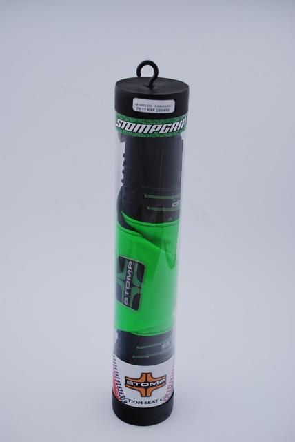 ストンプグリップ STOMPGRIP その他シートパーツ ダートバイク用トラクション シートカバー カラー:グリーン KX250F KX450F