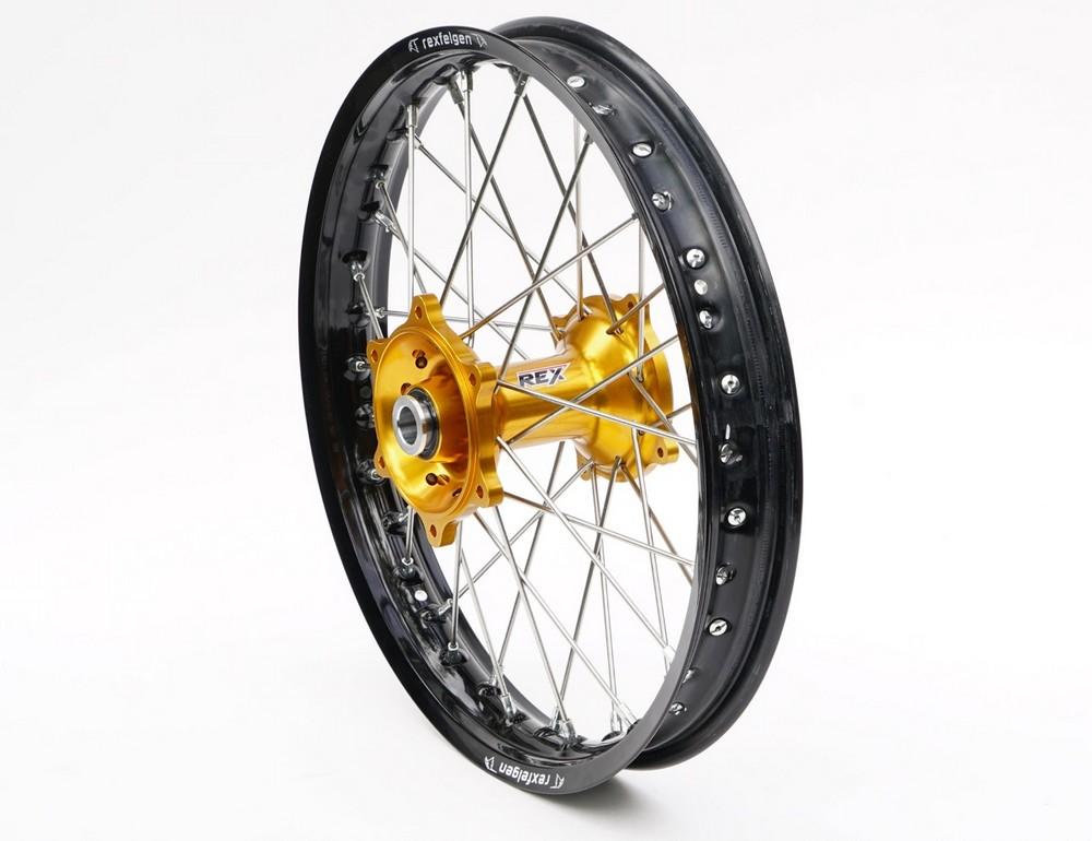 REX WHEELS レックスホイール ホイール本体 Suzuki オフロードコンプリートリアホイール サイズ:19-2.15 ハブカラー:ゴールド RMZ250 07-17