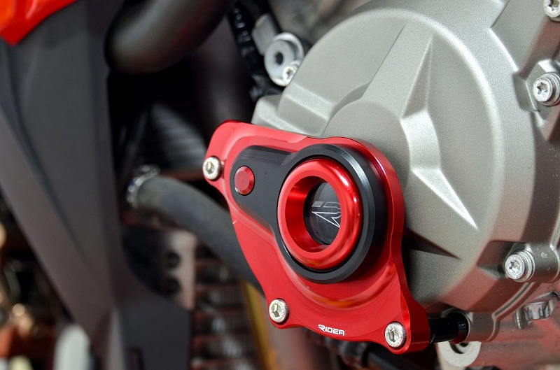 リデア エンジンカバー RIDEA エンジンプロテクター カラー:レッド HP4 S1000R S1000RR S1000XR