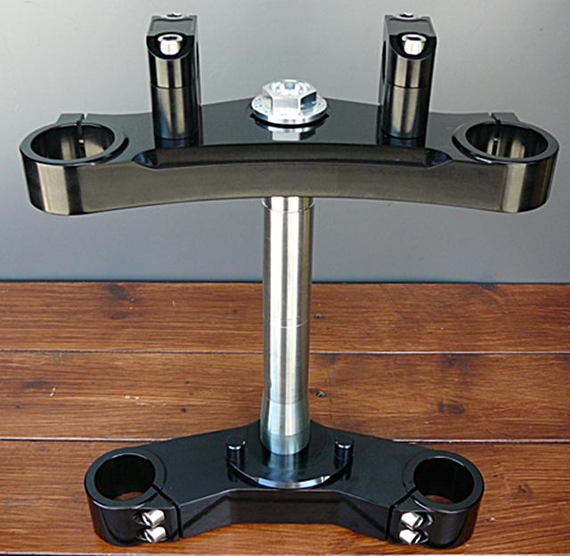 BORE ACE ボアエース トップブリッジ ワイド41mmステムキット カラー:ブラックアルマイト SR