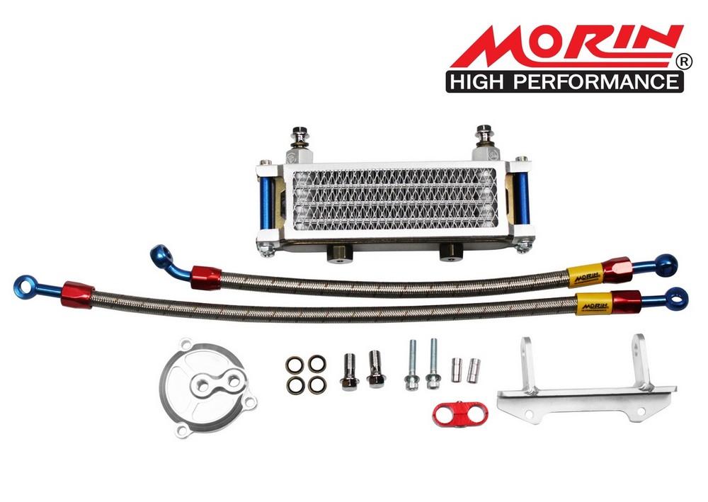 MORIN モーリン オイルクーラー本体 オイルクーリングキット ピラーカラー:レッド SPARK-135(全年式)