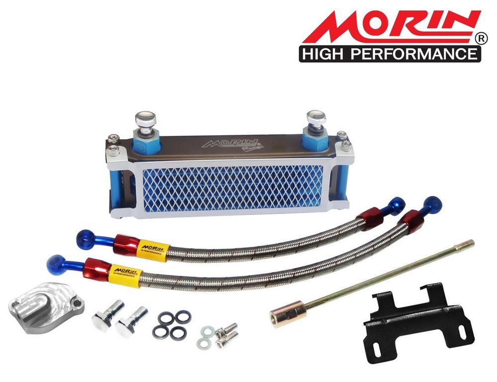 MORIN モーリン オイルクーラー本体 オイルクーリングキット カラー:Blue body/Blue pillar MSX-125(All)