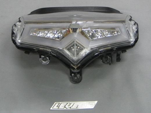 M-SOUL(ムサシ) エムソウル テールランプ LEVEL10 LED テールレンズ タイプ:通常タイプ(ウインカー非連動) レンズカラー:クリア S-MAX マジェスティーS