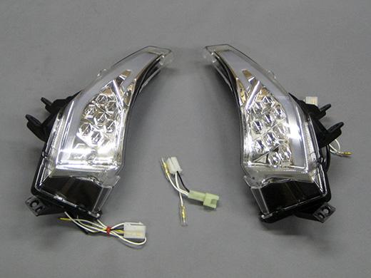 M-SOUL(ムサシ) エムソウル ウインカー LED 流れるフロントウィンカーレンズ レンズカラー:クリア 年式:2015以降