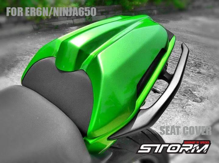 STORM AEROPARTS ストームエアロパーツ シートカウル シートカバー カラー:green er6n/ninja650 12-