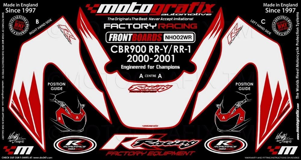 MOTOGRAFIX モトグラフィックス ステッカー・デカール ボディーパッド CBR900 FIREBLADE RR-Y RR-1(99-01)