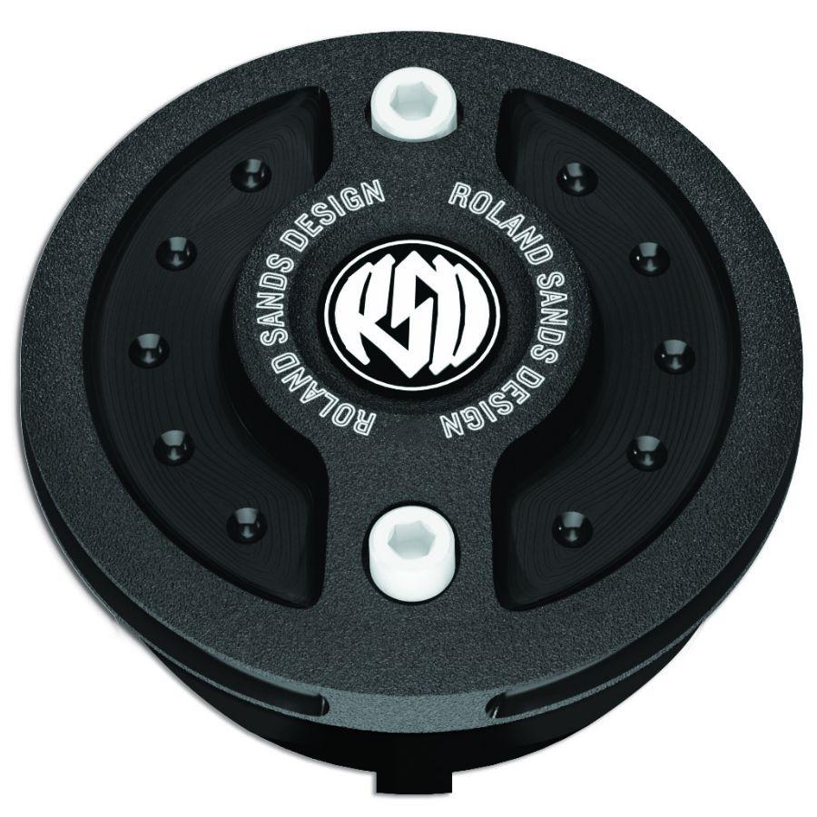 RSD Roland Sands Design ローランドサンズ タンクキャップ ガスキャップ Radial 仕上り:ブラックOPS LATE 96-14モデル