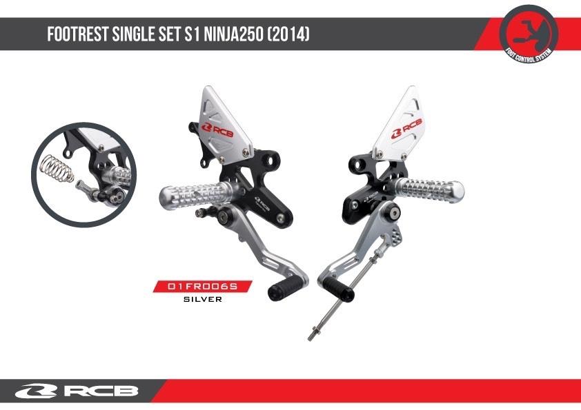 RACINGBOY レーシングボーイ RCB RB FOOTREST(バックステップ) SINGLE SET S1 NINJA250 NINJA250