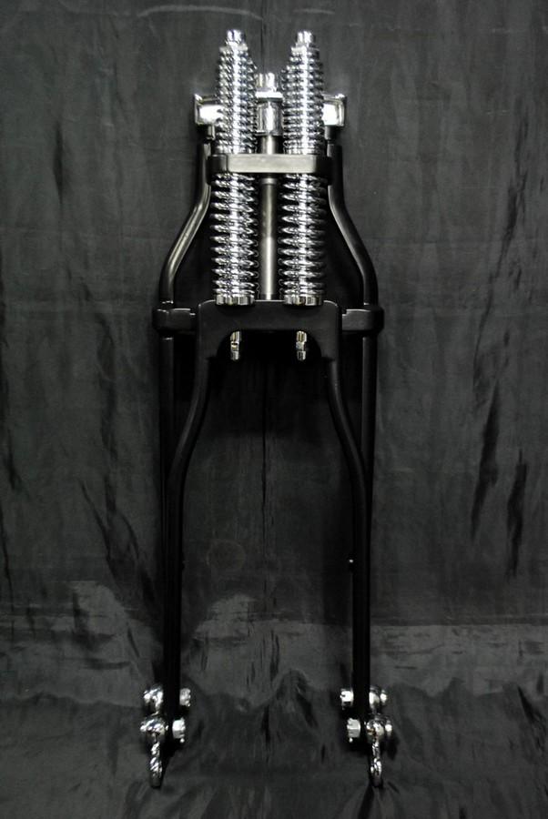 部品屋K&W フロントフォーク ヴィンテージスプリンガーフォーク カラー:ブラック(-4インチ)