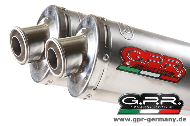 ジーピーアール GPR CLASSIC LINE STEEL 【クラシックライン スチール】 (HONDA FMX 650 2005-08 SLIP ON DOUBLE MUFFLER EXHAUST) スリップオンマフラー FMX650